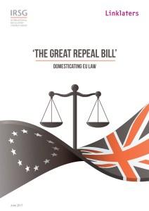 The Great Repeal Bill - Domesticating EU Law