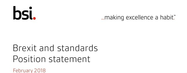 Brexit and Standards Position Statement