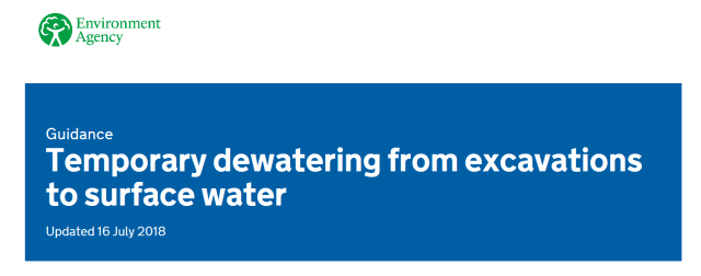 RPS - Temporary dewatering from excavations to surface water