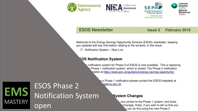 ESOS Phase 2 Notification System open
