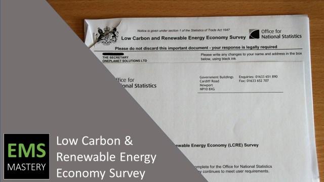 Low Carbon & Renewable Energy Economy Survey