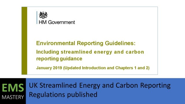 UK Streamlined Energy and Carbon Reporting Guidance published