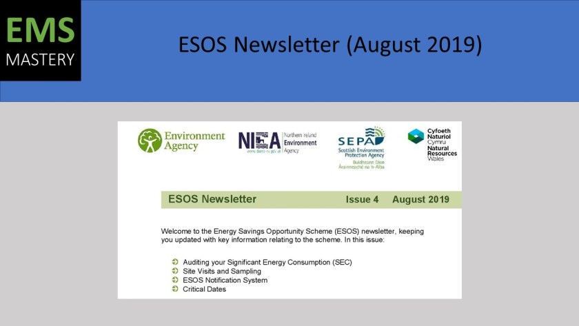ESOS Newsletter - August 2019