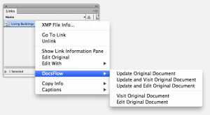 DocsFlow link panel menu