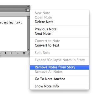 WordsFlow Remove notes menu