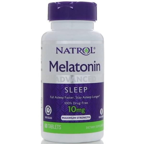 Melatonina 10mg Natrol Liberação Rápida e Gradual – 60 comprimidos Força Máxima