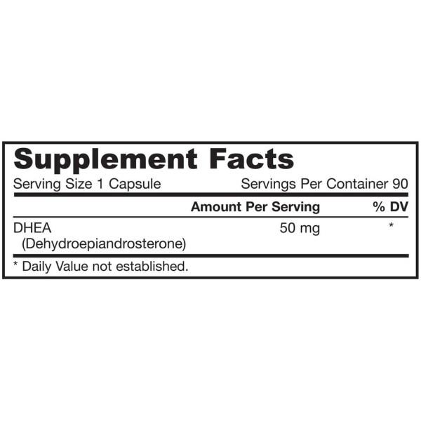 2X DHEA 50 mg Jarrow Formulas 90 cápsulas