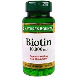 Biotina 10.000 mcg Nature's Bounty, 120 Softgels