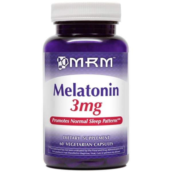 2X Melatonina 3 mg MRM 60 Capsulas Vegetarianas (TOTAL DE 120 CÁPSULAS)