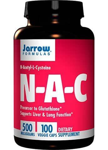 NAC (N-Acetil-L-Cisteína) 500mg – 100 Cápsulas – Jarrow Formulas
