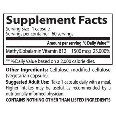 Vitamina B12 – Doctor's Best – 1500mcg – 60 Cápsulas
