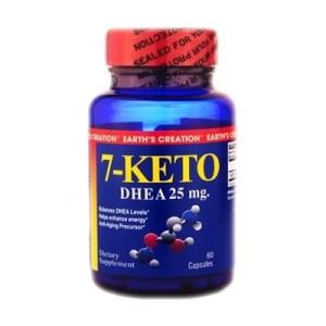 7-Keto Dhea 25 mg Earth´s Creation 60 cápsulas