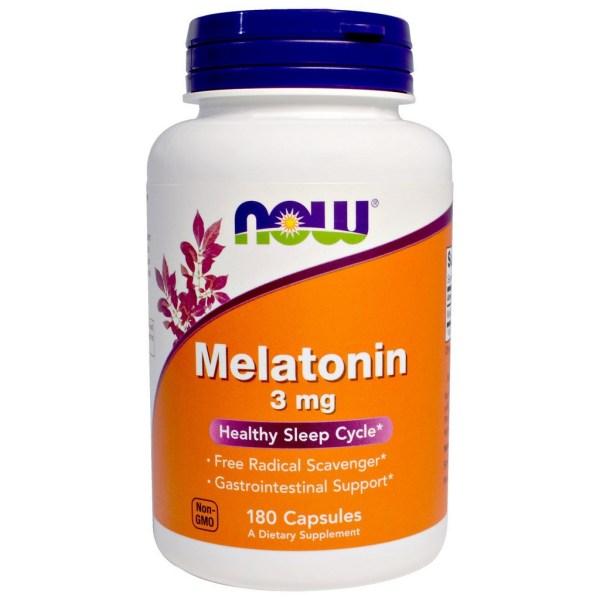 Melatonina 3mg Now Foods - 180 cápsulas