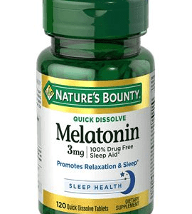 Melatonina 3mg Rápida Dissolução