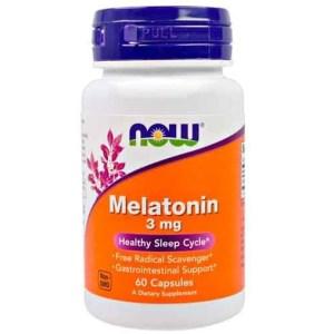 Melatonina 3mg Now Foods – 60 cápsulas