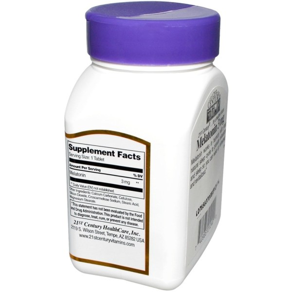 Melatonina 3mg 21st century 90 comprimidos
