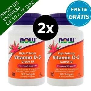 2X Vitamina D3 2.000 IU – Now Foods -120 Capsulas