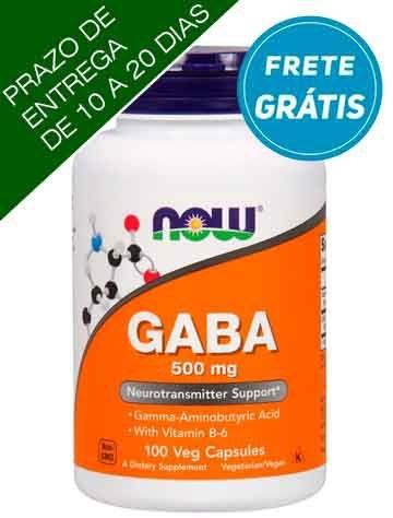 GABA, 500 mg, Now Foods, 100 Cápsulas vegetarianas