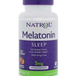 Melatonina 5mg Sublingual Fast Dissolve (90 comprimidos) – Sabor Morango – Natrol