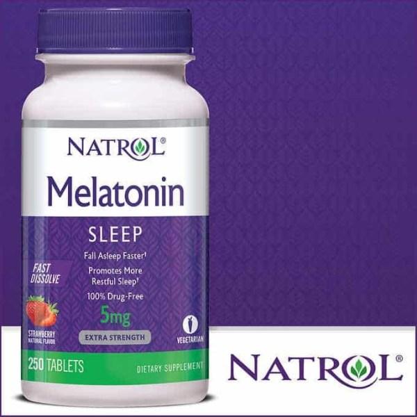 Melatonina Natrol 5 mg Fast Dissolve