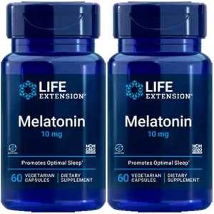 Melatonina Life Extension 10 mg 60 cápsulas ( TOTAL DE 120 CÁPSULAS )
