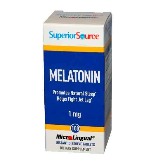 Melatonina 1mg Superior Source, 100 comprimidos microlingual