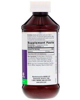 2X Melatonina liquida 2,5mg – 237 ml- Natrol