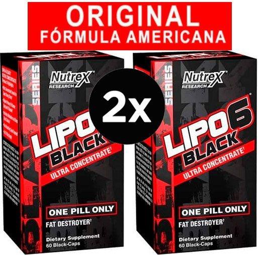 2X Lipo 6 Black Ultraconcentrado Nutrex 60 cápsulas