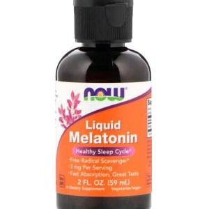 Melatonina Liquida 3mg (60 ml) - Now Foods