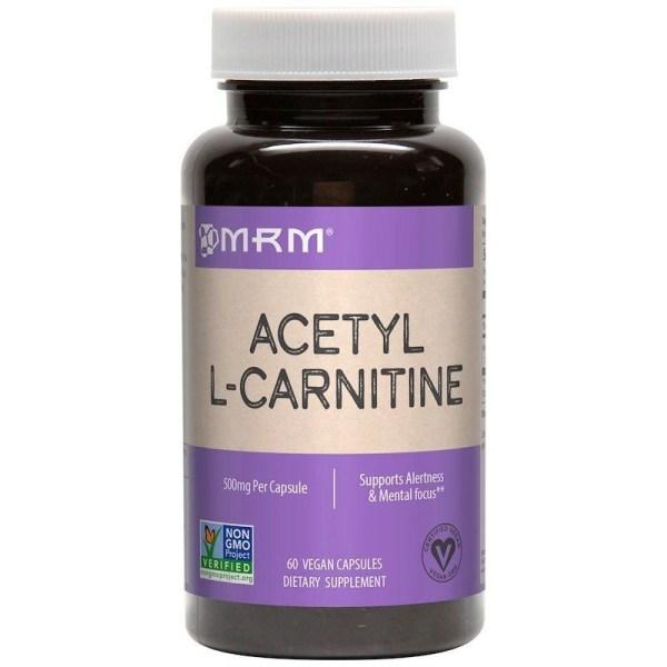 Acetil L-Carnitina 500 mg – MRM – 60 cápsulas