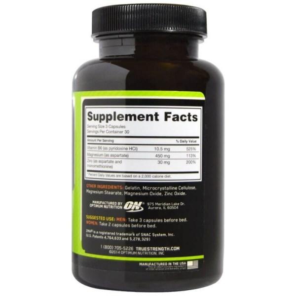 ZMA, Optimum Nutrition, 90 Cápsulas
