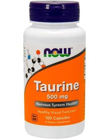 Taurina, 500mg, 100 Cápsulas, Now Foods