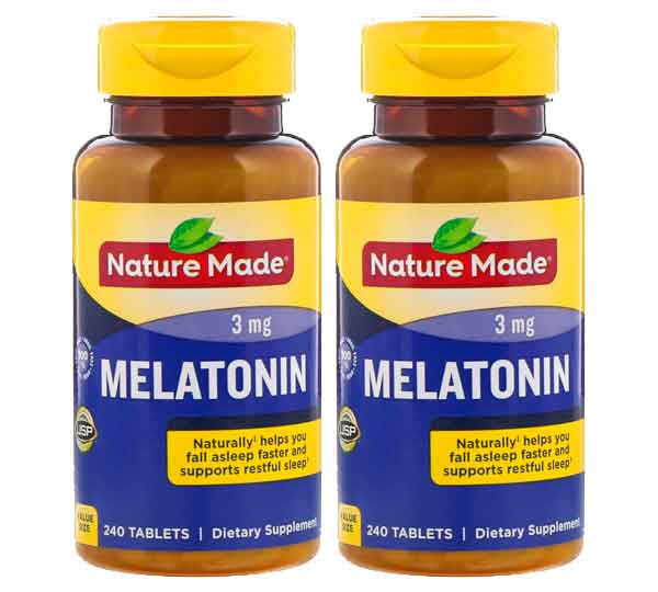 Nature Made, Melatonina, 3 mg