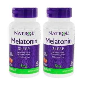 Melatonina 3mg Natrol [Sublingual] Fast Dissolve (90 comprimidos) – Sabor Morango – Leve 1 Frasco