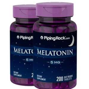 Melatonina 5 mg Piping Rock, Rápida Dissolução