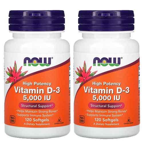 Vitamina D-3 de Alta Potência, 125 mcg