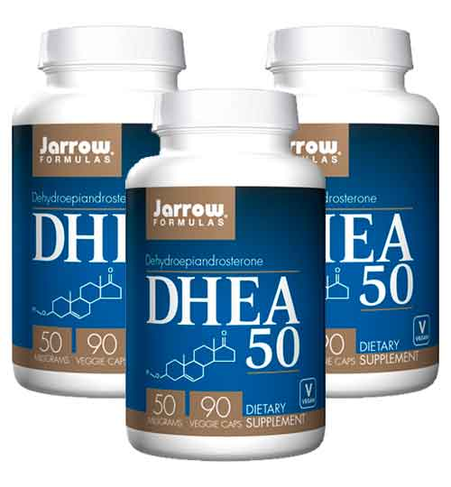 DHEA 50 mg Jarrow Formulas 90 cápsulas – Leve 3 Frascos