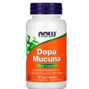 Dopa Mucuna Now Foods 90 Cápsulas Vegetais