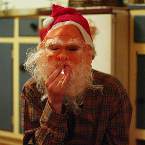 creepy santa photo