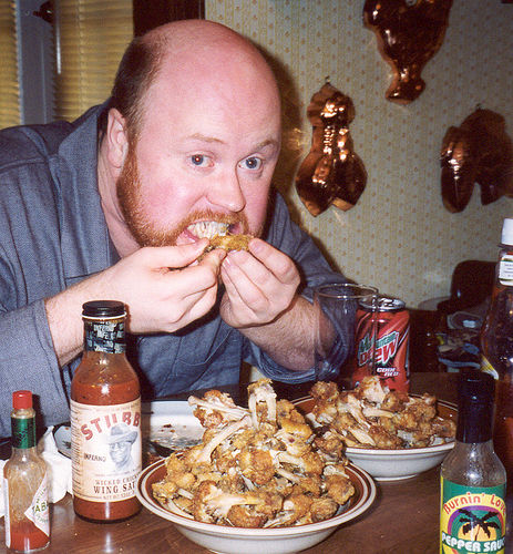 chicken wing eating photo