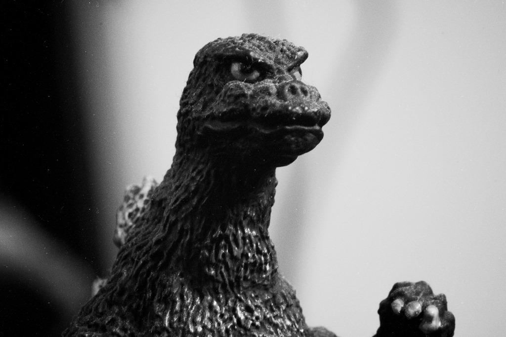 Godzilla 2014 B&W Headshot