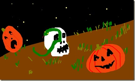 SNAKES AND SKULLS AND PUMPKINS