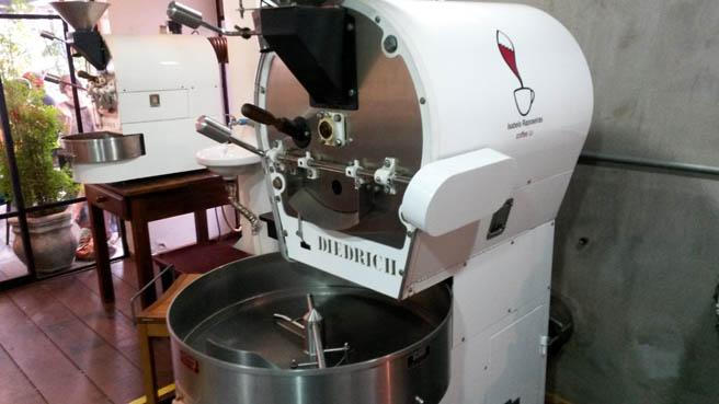 Máquina de torrefação do Coffee Lab