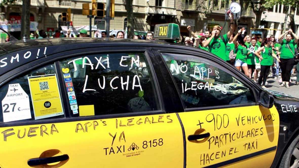 Resultado de imagen de huelga taxis