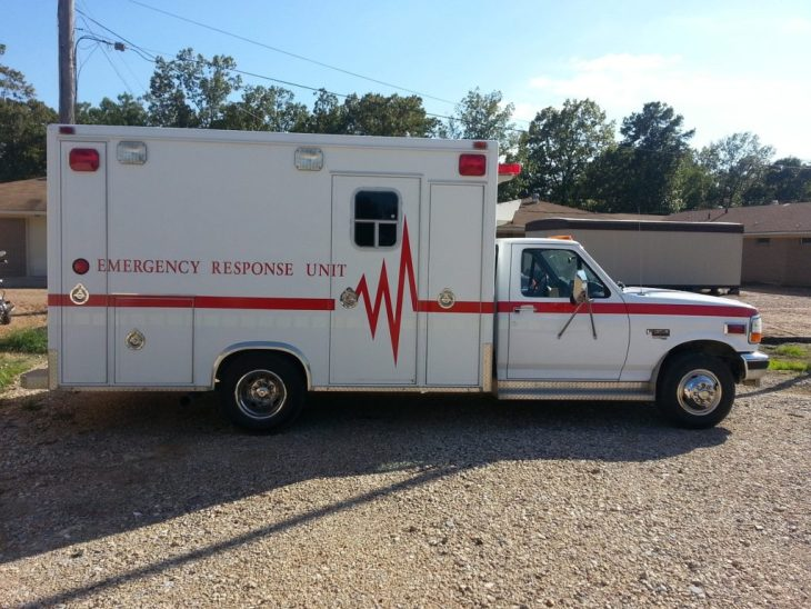EMT Training Ambulance Side View