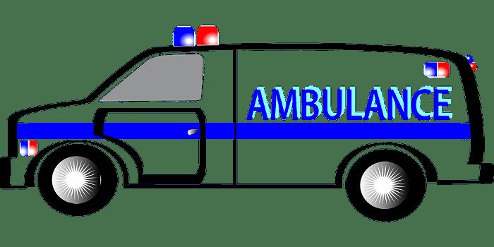 Ambulance Blue and White Trans