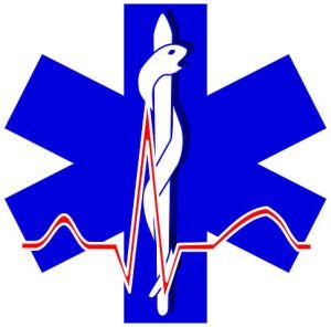 Paramedic EKG logo white background