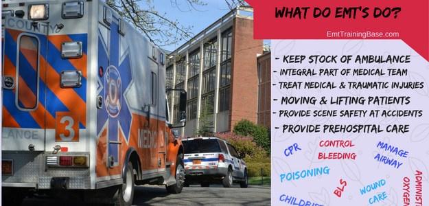 What do EMT's do infographic