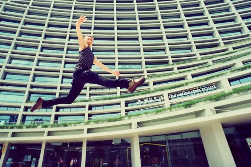 """Leap of Chance"" Stranger Portrait Nikon FA, Nikkor 20mm f/2.8, Fujifilm 64D movie film"