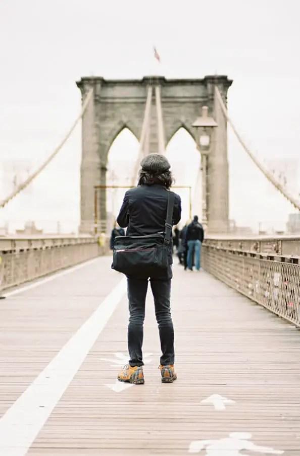 The Bridge – Brooklyn Bridge, NYC – Leica M3 + Kodak Portra 400